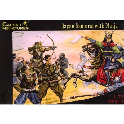 Figurines Japon médiéval: Samouraïs et ninjas - Caesarminiatures-CM003