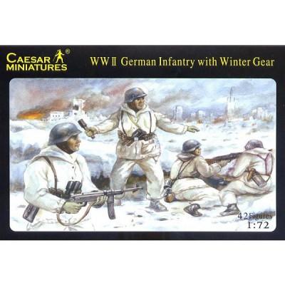 Figurines 2ème Guerre Mondiale : Panzergrenadiers allemands en tenues d'hiver: Front de l'Est 1943- - Caesarminiatures-CM005