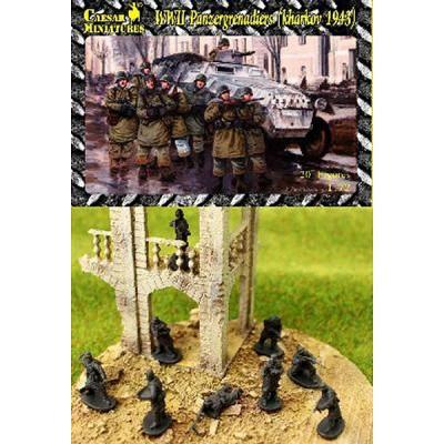 Figurines 2ème Guerre Mondiale : Panzergrenadiers allemands: Kharkov 1943 - Caesarminiatures-CMHB001