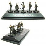 Figurines 2ème Guerre Mondiale : Panzergrenadiers allemands : Set 2 : 5 figurines sur socle