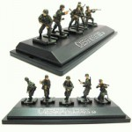 Figurines 2ème Guerre Mondiale : Panzergrenadiers allemands : Set 3 : 5 figurines sur socle
