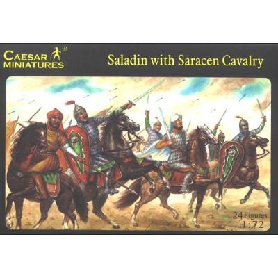 Figurines médiévales: Saladin et cavalerie sarrasine XIIème siècle - Caesarminiatures-CM018