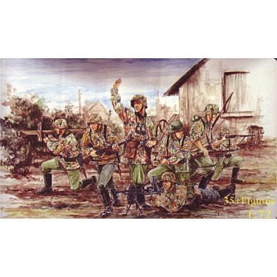 Figurines 2ème Guerre Mondiale : SS Panzergrenadiers allemands 1943-1944 - Caesarminiatures-CM053