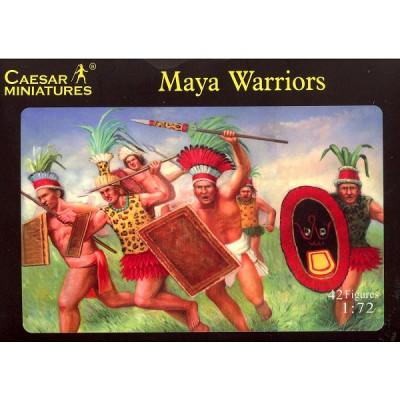 Figurines guerriers mayas XVIème siècle - Caesarminiatures-CM027