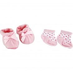 Accessoires pour poupée : Chaussons et chaussettes : Rose