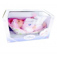 Bébé dans son couffin sans anses : rose