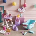 Coffret poupée Lil 25 cm : Le repas et le bain de bébé