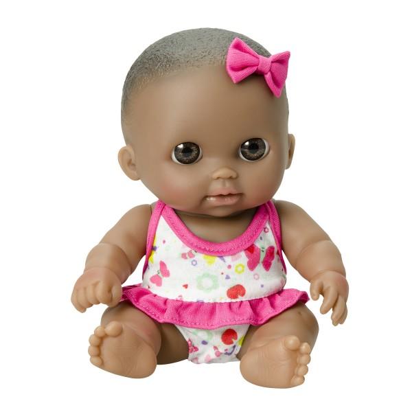 Poupée 22 cm : Poupée noire aux yeux marrons - Calinou-CAL16936-1