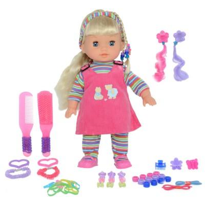 poup e avec accessoires de mode rose jeux et jouets calinou avenue des jeux. Black Bedroom Furniture Sets. Home Design Ideas