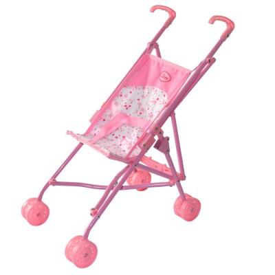 poussette canne pour poup e rose pastel calinou magasin de jouets pour enfants. Black Bedroom Furniture Sets. Home Design Ideas
