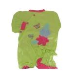 Vêtements pour poupée de 42 cm : Pyjama vert avec bonnet assorti