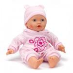 Vêtements pour poupée de 42 cm Lissi Dolls : Pyjama rayé rose et blanc