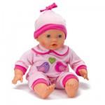 Vêtements pour poupée de 42 cm Lissi Dolls : Pyjama rose avec oiseaux et coeur