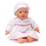 Vêtements pour poupée de 46 cm : Robe Rose et Blanche avec bonnet