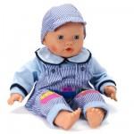 Vêtements pour poupée de 46 cm Lissi Dolls : Tenue bleue avec salopette rayée et casquette
