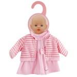 Vêtement pour poupon 32-36 cm : Robe rose avec gilet