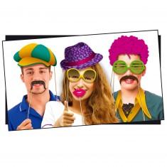 Accessoires de déguisement : Selfie Booth Photo Délire : Disco