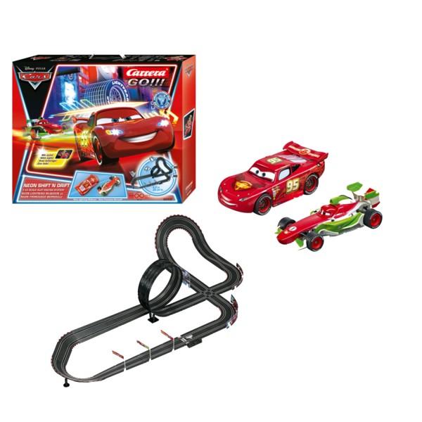 circuit de voitures carrera go disney pixar neon shift 39 n drift cars jeux et jouets carrera. Black Bedroom Furniture Sets. Home Design Ideas