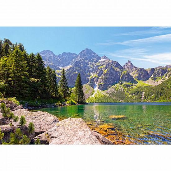 Puzzle 1000 pièces - Lac Morskie Oko Tatras, Pologne - Castorland-102235