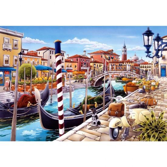 Puzzle 1000 pièces : Canal de Venise, Italie - Castorland-103058