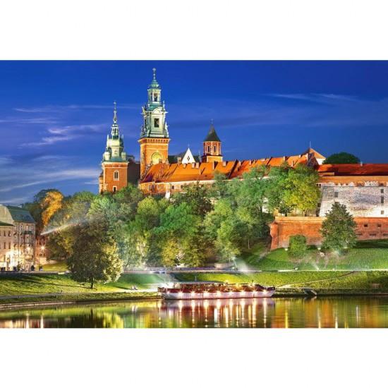 Puzzle 1000 pièces : Chateau du Wawel, Pologne - Castorland-103027