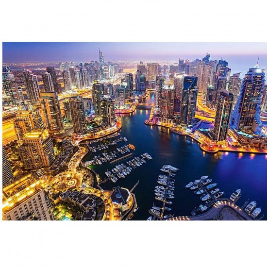 Puzzle 1000 pièces : Dubai de nuit - Castorland-103256-2