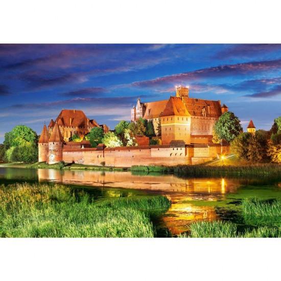 Puzzle 1000 pièces : Forteresse teutonique de Marienbourg, Pologne - Castorland-103010