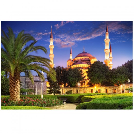 Puzzle 1000 pièces : La mosquée bleue, Turquie - Castorland-103386-2