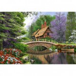 Puzzle 1000 pièces : Le cottage de la rivière