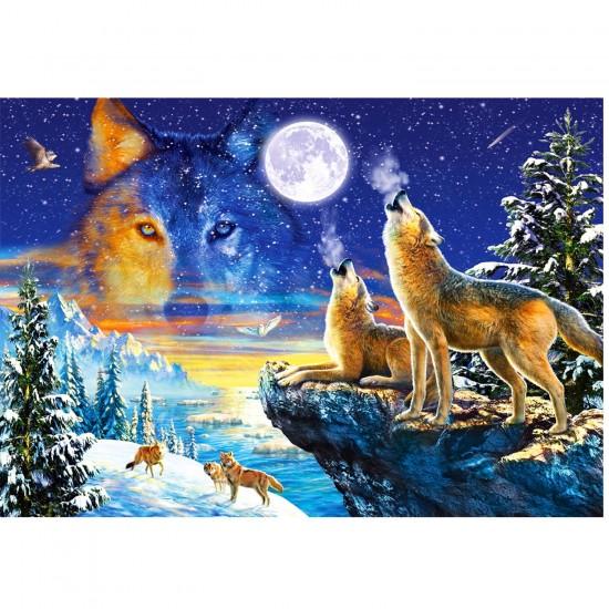 Puzzle 1000 pièces : Le hurlement des loups - Castorland-103317-2