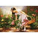 Puzzle 1000 pièces : Le jardin des roses