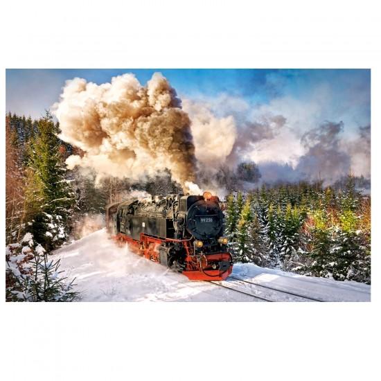 Puzzle 1000 pièces : Le train à vapeur - Castorland-103409-2