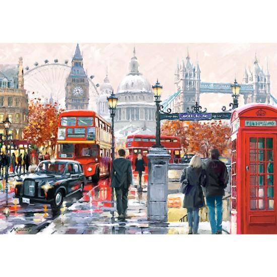 Puzzle 1000 pièces : Londres Collage - Castorland-103140