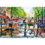 Puzzle 1000 pièces : Paysage d'Amsterdam