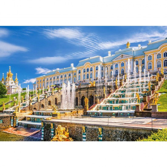 Puzzle 1000 pièces : Peterhof Palace, Saint Petersbourg, Russie - Castorland-103102