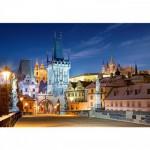 Puzzle 1000 pièces : Pont Charles de nuit, Prague