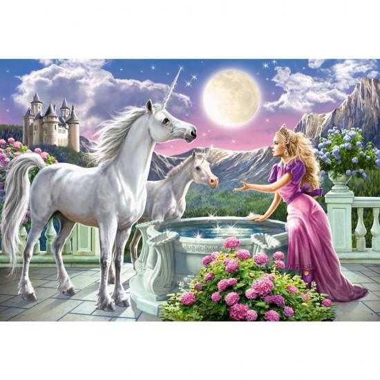 Puzzle 1000 pièces : Princesse et ses licornes - Castorland-103164