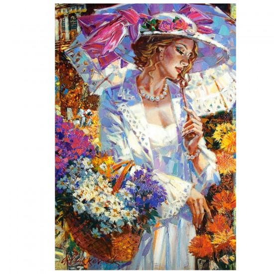 Puzzle 1000 pièces : Promenade parmi les chrysanthèmes - Castorland-103294-2