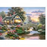 Puzzle 1000 pièces : Richard Burns : Cottage paisible