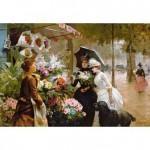 Puzzle 1000 pièces : Stand de fleurs à Paris