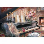 Puzzle 1000 pièces - Judy Gibson : Sonata by Firelight
