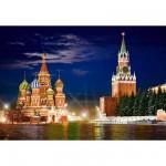 Puzzle 1000 pièces - La Place Rouge de Moscou la nuit