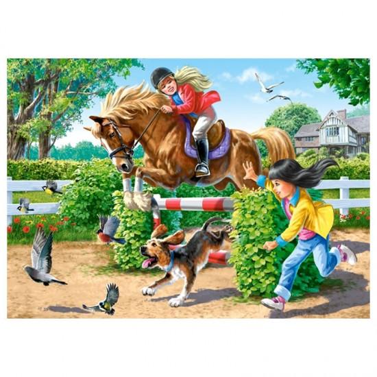 Puzzle 108 pièces : Equitation en Vacances - Castorland-010165