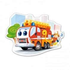 Puzzle 12 pièces : Camion de pompiers