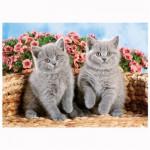Puzzle 120 pièces : Adorables chatons gris