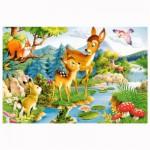 Puzzle 120 pièces : Bambi et sa maman