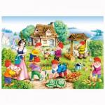 Puzzle 120 pièces : Blanche Neige et les 7 nains