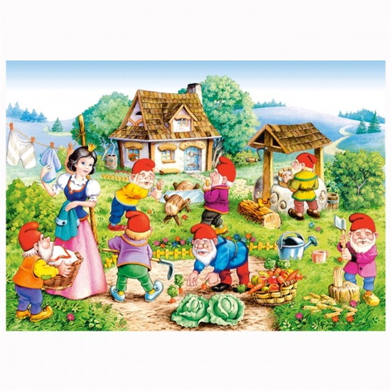Puzzle 120 pièces : Blanche Neige et les 7 nains - Castorland-12749