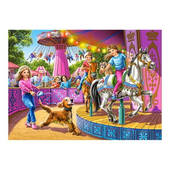Puzzle 120 pièces : Carrousel - Castorland-13135-1