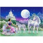 Puzzle 120 pièces : La princesse et les licornes